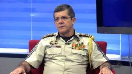 Comandante da Polícia Militar, Coronel Werisleik Matias (Foto: Reprodução/TV Verdes Mares)