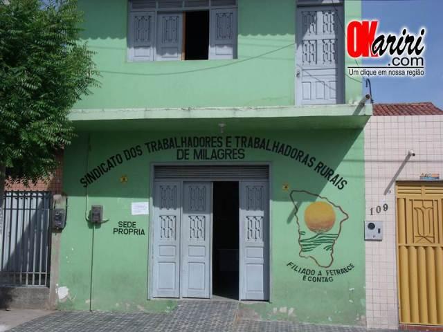 Sede do Sindicato dos Trabalhadores e Trabalhadoras Rurais de Milagres/CE (Foto: Alecx Silva/Agência OKariri)
