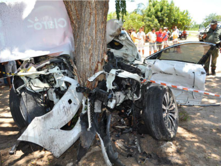 Duas pessoas morreram e outras duas ficaram feridas (Foto: João Paulo Marcial/Arquivo pessoal)
