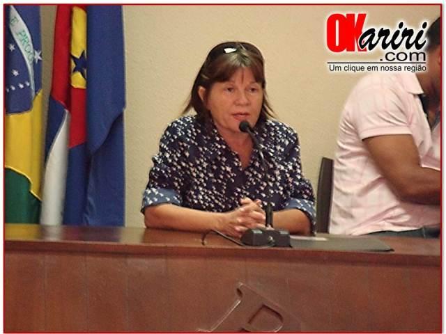 Solange Cruz, Secretária de Educação de Milagres (Foto: Alecx Silva/Agência OKariri)