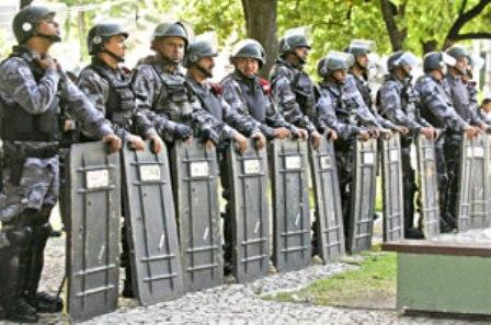 BPChoque vai estar postada nas vias de acesso à Arena Castelão juntamente com os efetivos do Exército, Força Nacional de Segurança (FNS) e apoio da PRF e Ciopaer (FOTO: DIVULGAÇÃO)