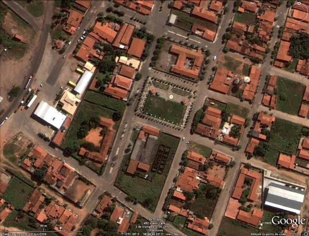 Vista parcial aérea da cidade do Barro (Foto: Google Earth/Reprodução)