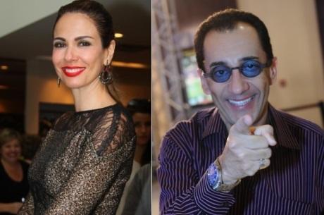 Luciana Gimenez e Jorge Kajuru (Foto: Montagem/AgNews)