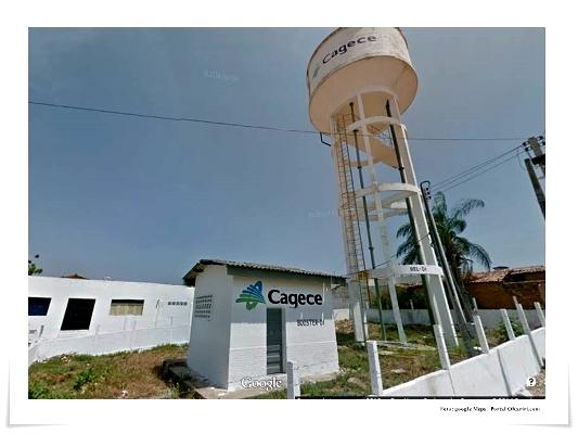 Caixa de abastecimento d'água da Cagece em Milagres-CE   Google Meps