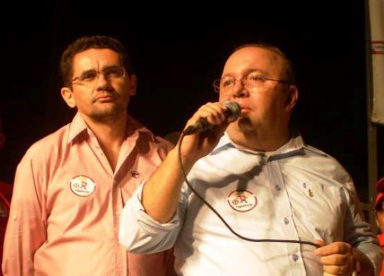 Figueiredo e Lielson, candidatos na eleição de 2012 em Milagres-CE | Foto: Facebook