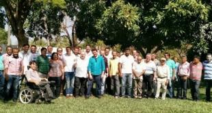 Lideranças da oposição que estiveram reunidos com Prefeito Guilherme Landim | Foto : Divulgação