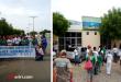 O manifestantes percorriam por ruas da cidade e pararam em frente a prédios públicos   Foto Divulgação