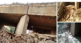 Os moradores de Abaiara, falam que a estutura está danificada da ponte já faz algum tempo | Foto: Enviada Por Leitores OKariri