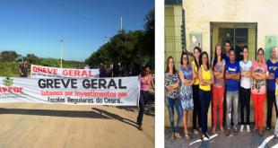 Milagres/Abaiara-CE: Professores estaduais aderem a greve estadual