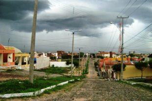 Penaforte em dia chuvoso | Foto reprodução do Portal Penaforte Noticias