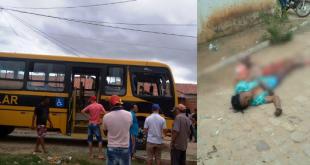 Porteiras-CE: Senhora é atropelada e morta por ônibus escolar