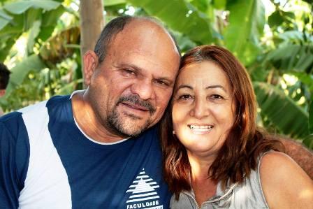 Cosma Ferreira, ao lado do esposo Luis Bento |Foto: Acervo pessoal