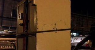 Cofre de mais de duas toneladas é encontrado em rodovia no Ceará (Foto: Reprodução/TV Verdes Mares)
