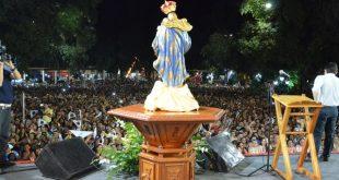 A  festa da 'Mãe da Penha', que tem como tema 'Salve Rainha, Mãe de Misericórdia' (Foto: Diário do Nordeste)