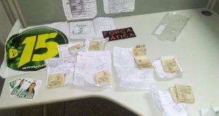 Material apreendido pela policia (Foto: Divulgação)
