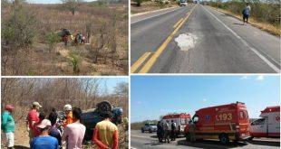 Policia Militar, SAMU, PRF, Bombeiros do Ceará e do Pernambuco estiveram na ação| Fotos: Na Rota Das Notícias