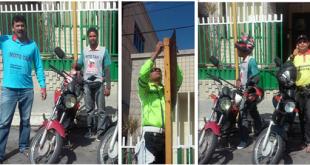 Mototaxistas comemoram volta ao tradicional ponto de trabalho / Foto Divulgação