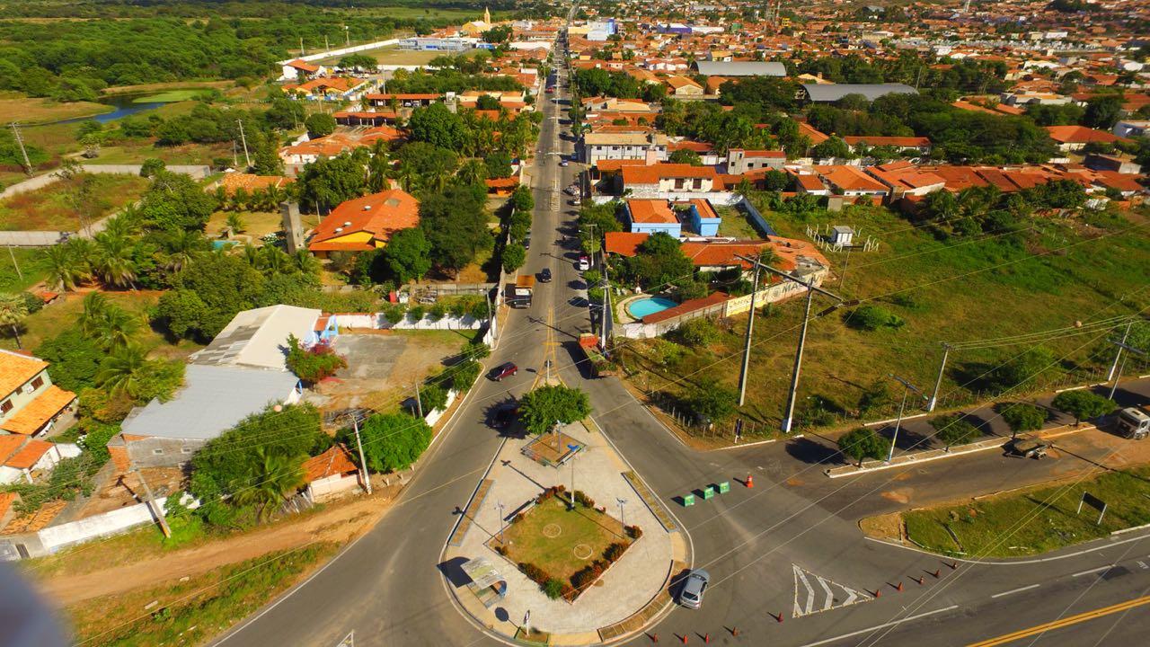 Vista Aérea da Entrada de Milagres - CE   Foto: Divulgação