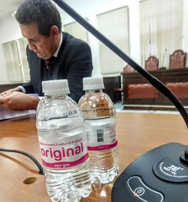 Água no tribunal