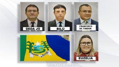 Mesa diretora da Câmara Municipal de Abaiara para o biênio2019/2020 | Imagens divulgação