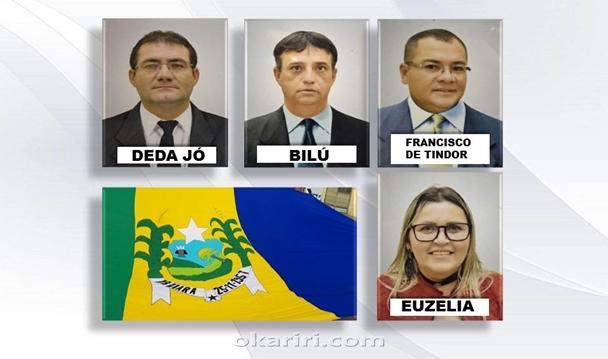 Mesa diretora da Câmara Municipal de Abaiara para o biênio2019/2020   Imagens divulgação