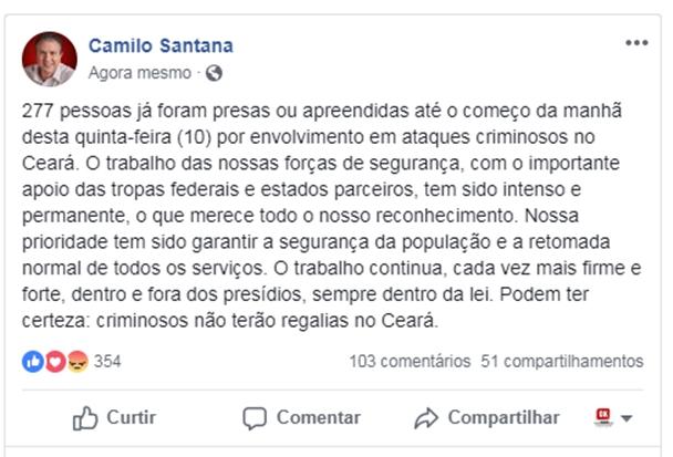 Post de Camilo Santana