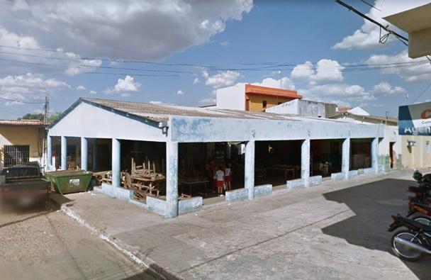 Antigo galpão do mercado público em Abaiara   Foto: Google maps