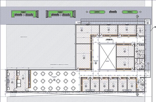 Projeto de como a prefeitura pretende que seja construído o novo mercado   Foto: Divulgação
