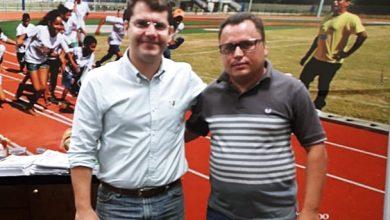 Secretário de esportes do Ceará ao lado o Secretário de esportes e Abaiara   Foto: Divulgação