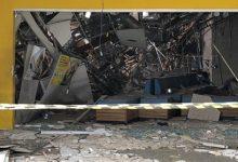 Interior da agência bancária ficou destruído após explosão durante a madrugada Foto: Mateus Ferreira