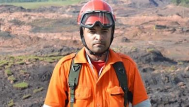 Bombeiro civil Jeferson Ricardo participa de buscas em região atingida por lama (Foto: Arquivo pessoal)